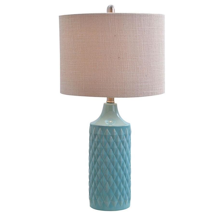 Shop Catalina 26 5 In Spa Blue Table Lamp With Linen Shade