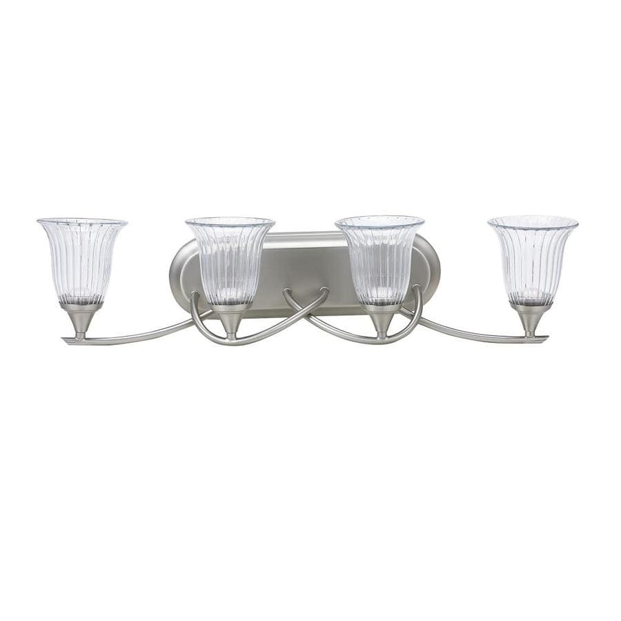 Pfister Auden 4 Light 30 In Brushed Nickel Bell Led Vanity