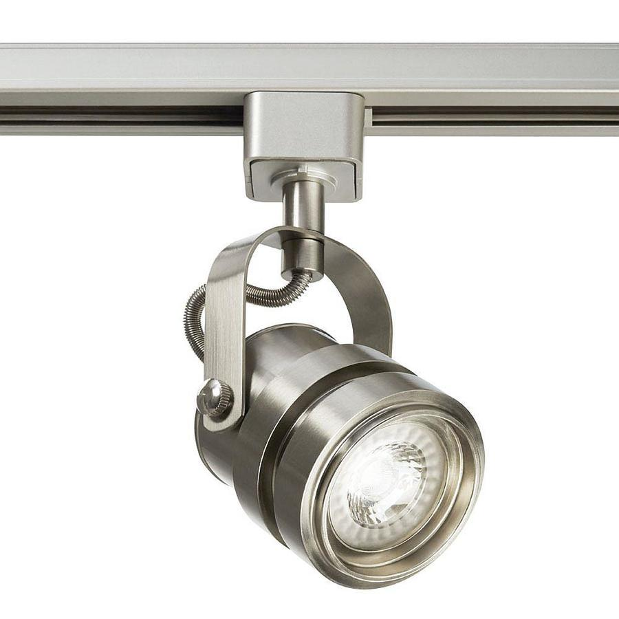 Project Source 1 Light Dimmable Brushed Nickel Gimbal Linear Integrated Led Track Lighting Head