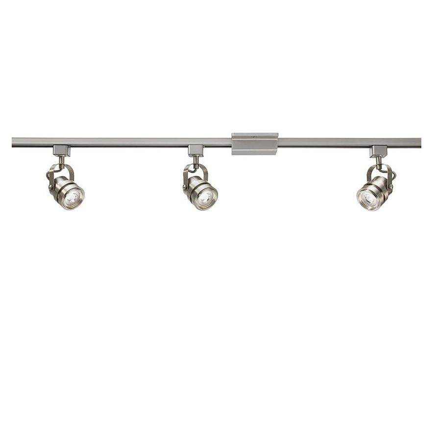 track lighting white. Project Source 3-Light 42-in Brushed Nickel Dimmable LED Gimbal Linear Track Lighting White .
