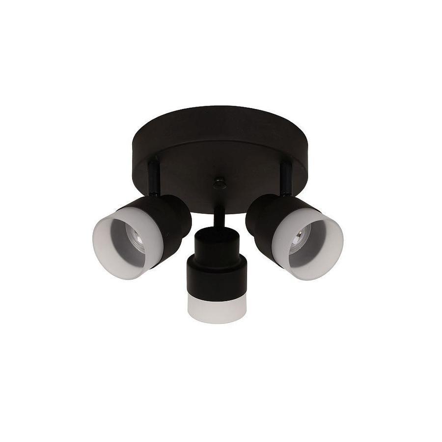 Portfolio Willscott 3-Light 7.48-in Bronze Dimmable LED Flush Mount Fixed Track Light Kit