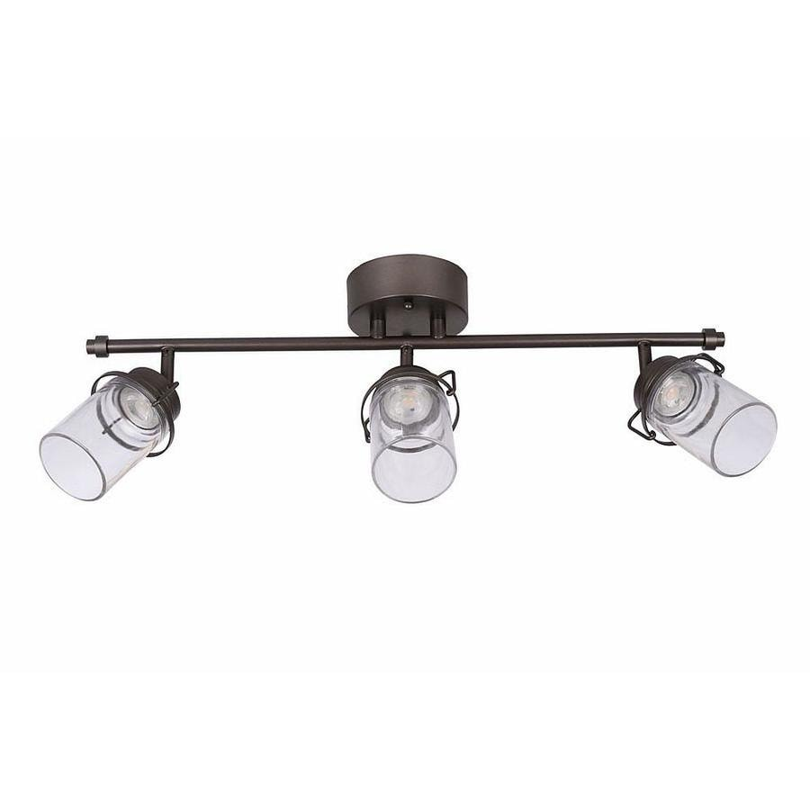 Shop allen roth valleymeade 3 light 245 in bronze dimmable led allen roth valleymeade 3 light 245 in bronze dimmable led track bar fixed mozeypictures Choice Image