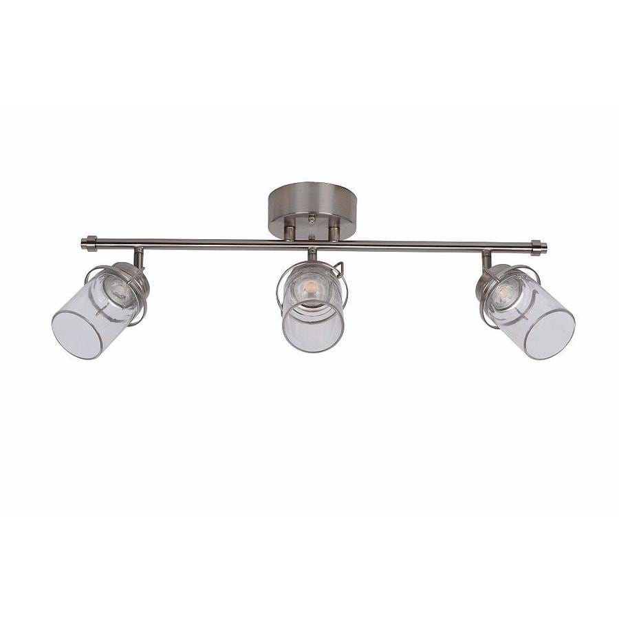 allen + roth Valleymeade 3-Light 24.5-in Brushed Nickel Dimmable LED Track Bar Fixed Track Light Kit