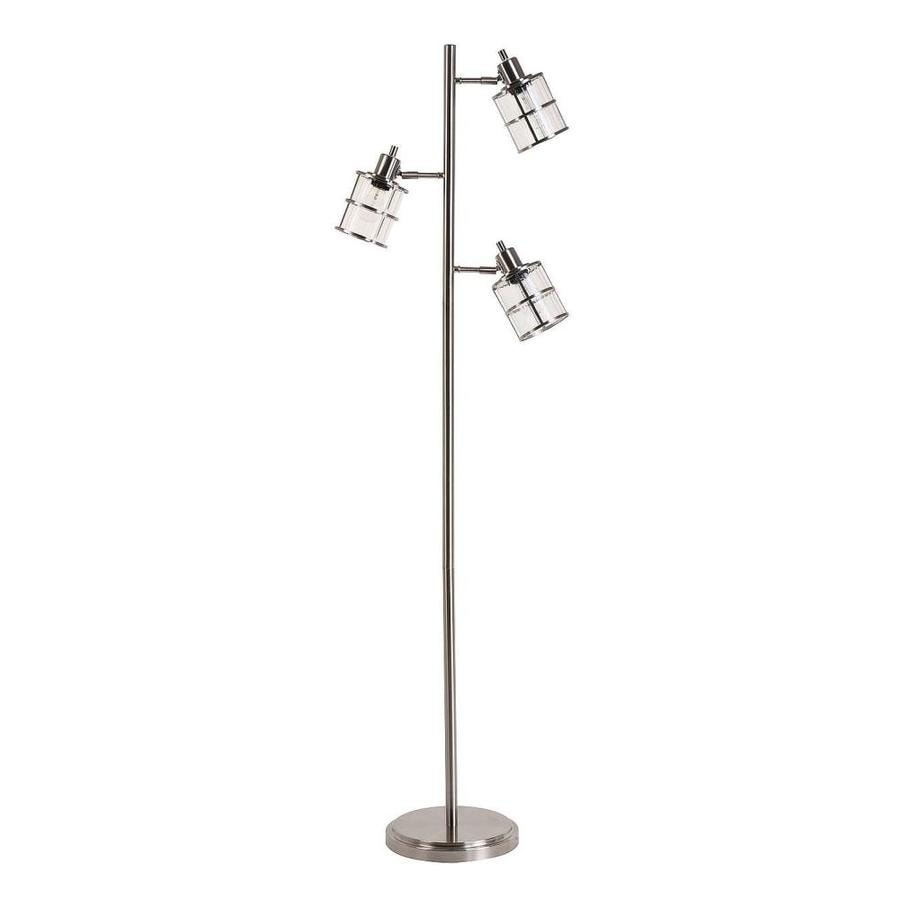 Shop catalina kenross 68 in brushed nickel tree track for Mainstays track tree floor lamp brushed nickel
