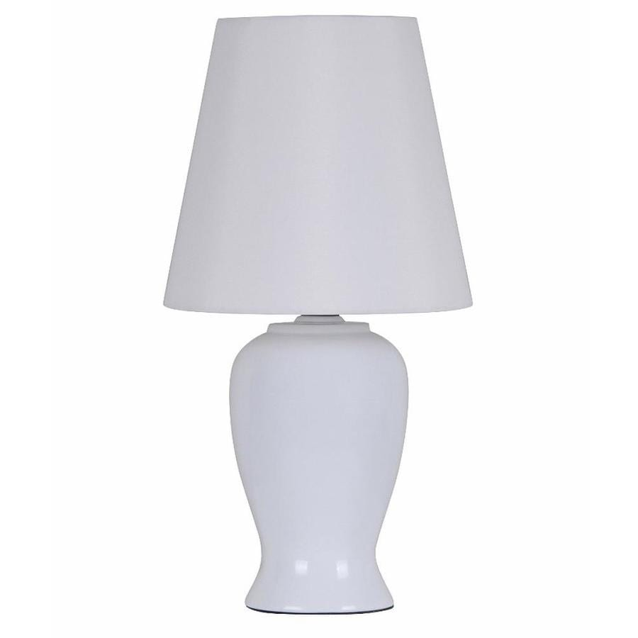 Catalina 12.5-in Matte White    Buffet Table Lamp with Fabric Shade