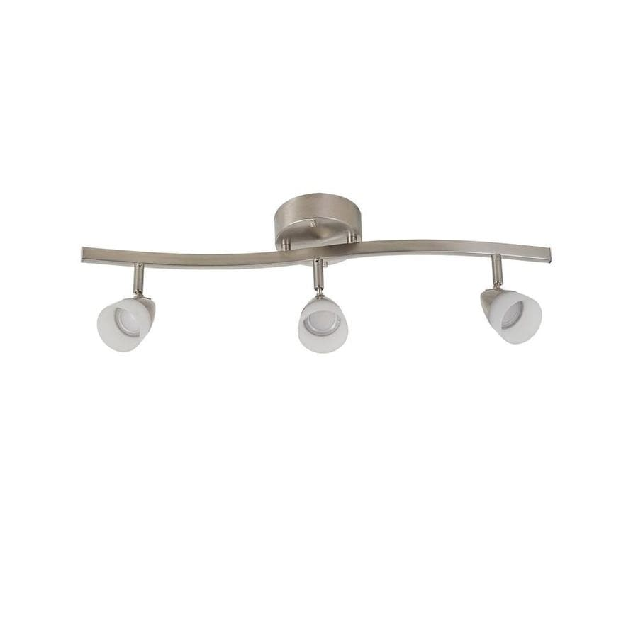 Portfolio Aria 3 Light 24 1 In Brushed Nickel Dimmable Led Track Bar Fixed Lighting Guide