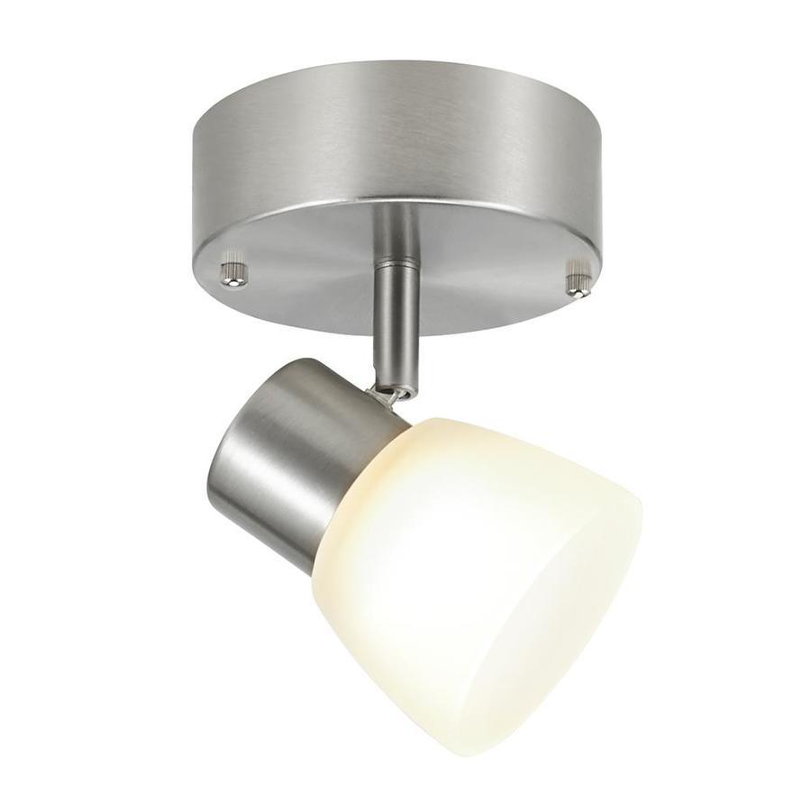 Portfolio 6 Light Track Lighting: Portfolio Sawyer 1-Light 4.5-in Brushed Nickel Dimmable