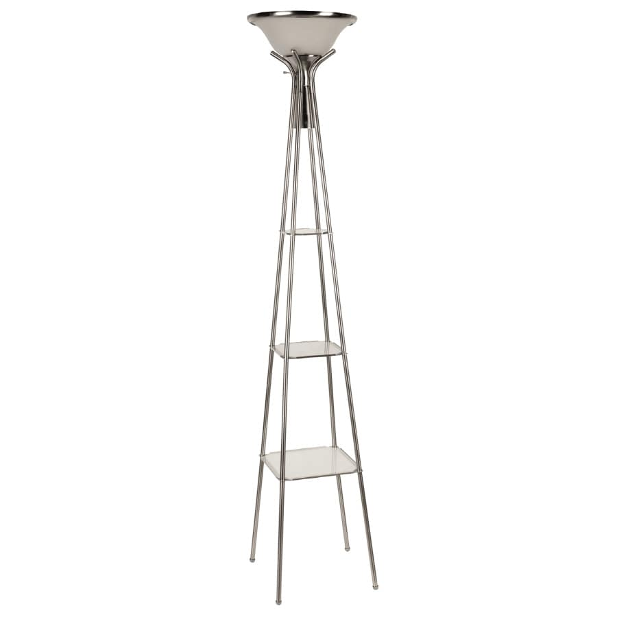 Shop Portfolio 3-Way Rust Etagere Floor Lamp at Lowes.com