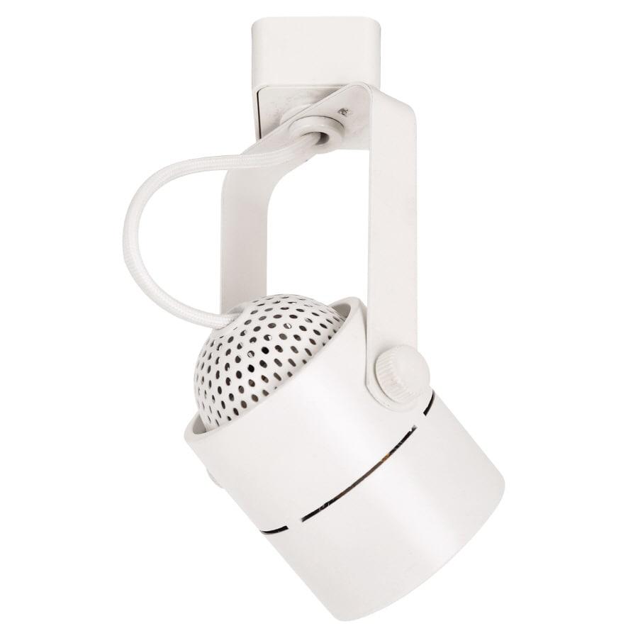 Portfolio Track Pendant Lighting: Portfolio 1-Light White Pinhole Linear Track Lighting Head