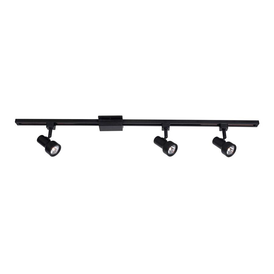 Portfolio 3-Light 42.5-in Black Step Linear Track Lighting Kit