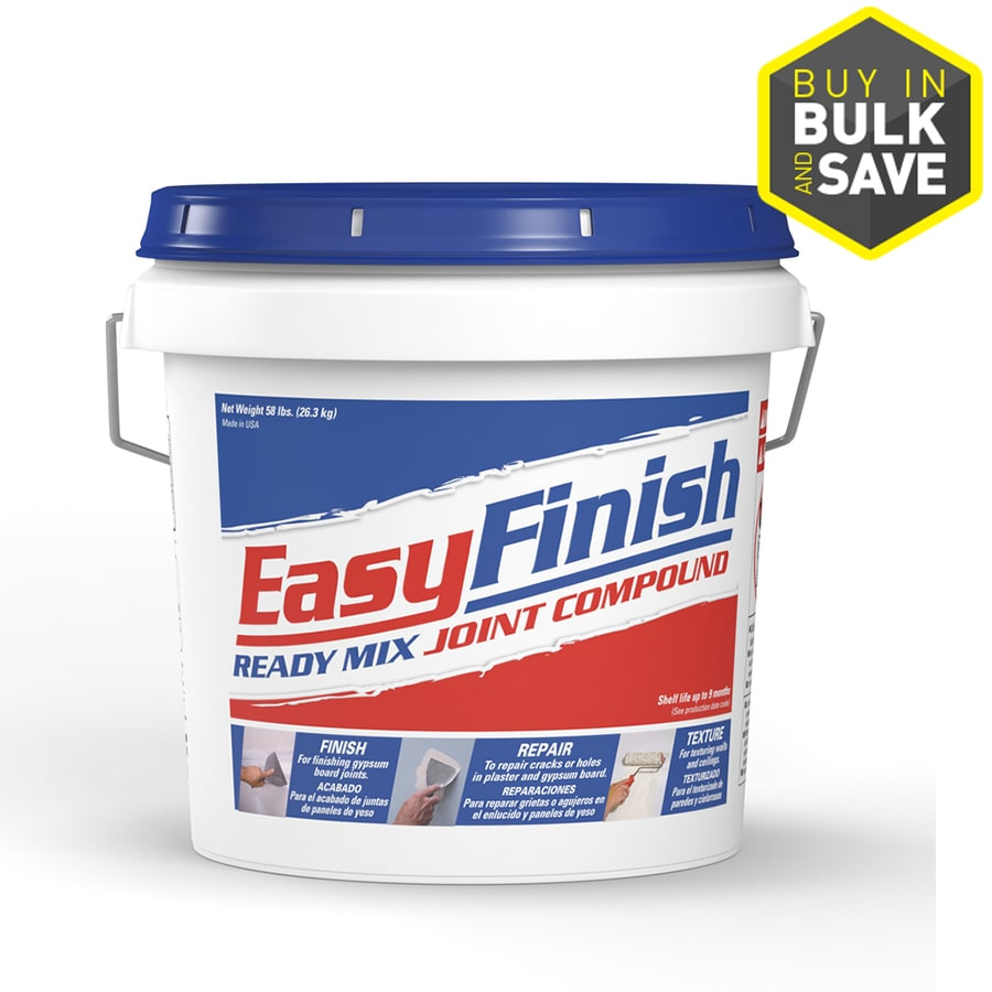 Shop easy finish all purpose 58 lb premixed all purpose for Bathroom joint compound
