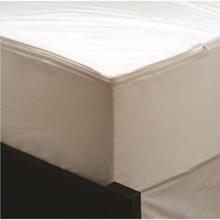 Aller-Ease Polyester Twin Hypoallergenic Mattress or Box Spring Cover with Bed Bug Protection