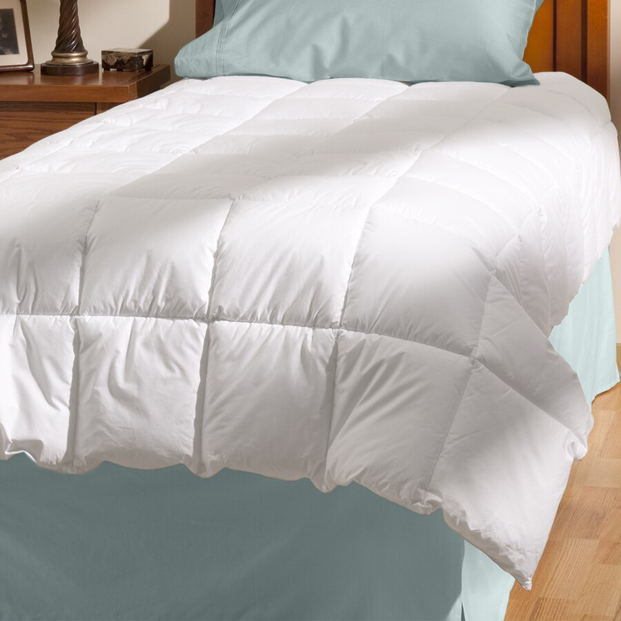 Aller-Ease White King Comforter Set