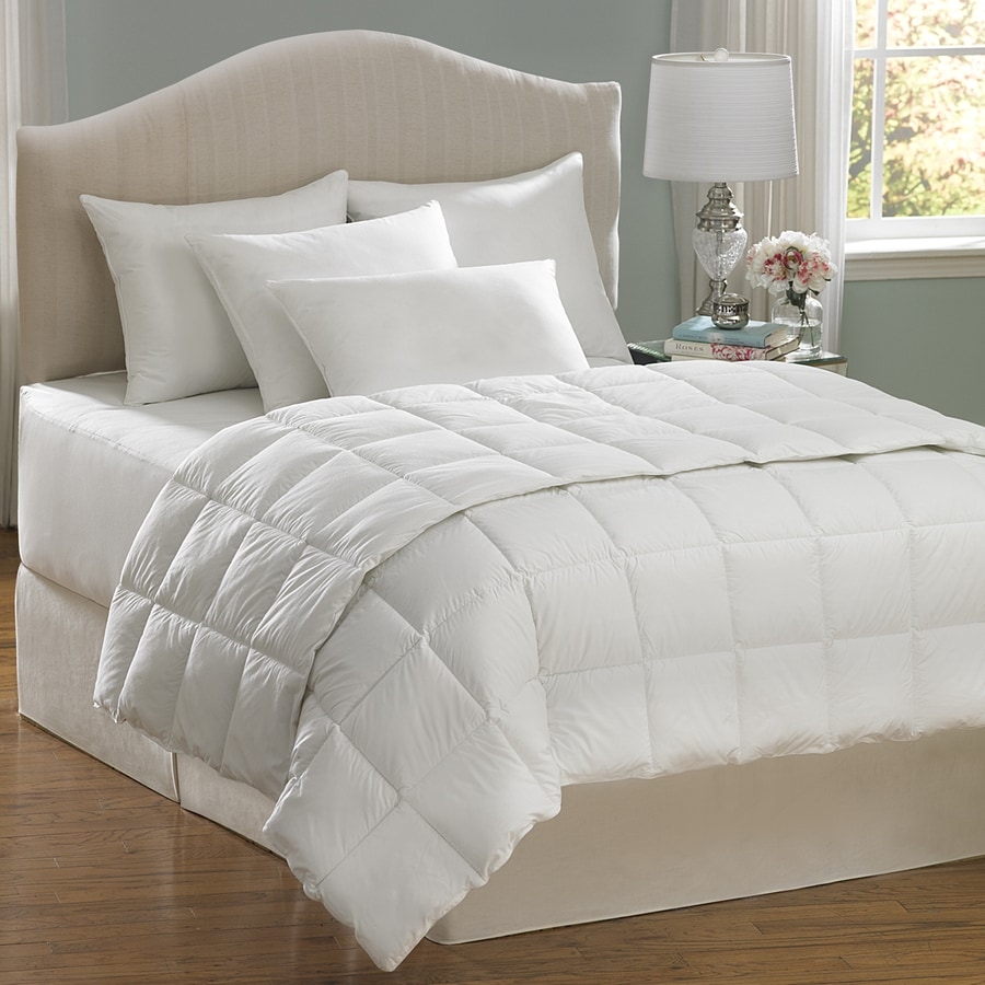 allerease hot water wash white king comforter set