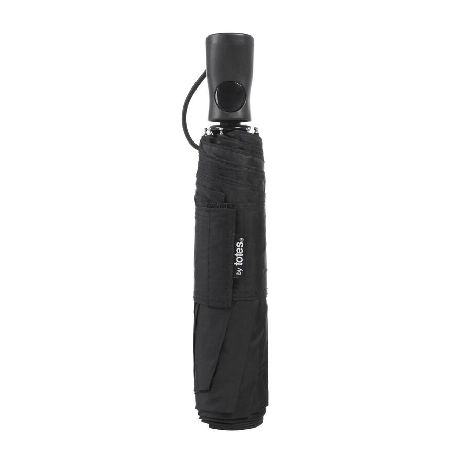 totes 14.5-in Black Automatic Compact Umbrella