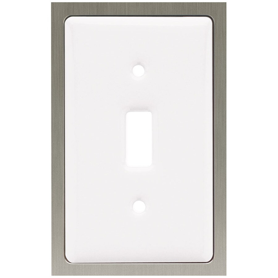 Brainerd 1-Gang White Toggle Wall Plate