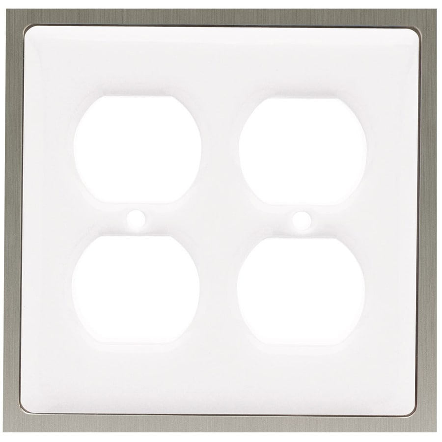 Brainerd 2-Gang White Round Wall Plate