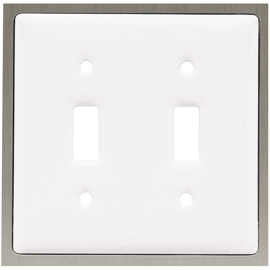 Brainerd 2-Gang White Toggle Wall Plate
