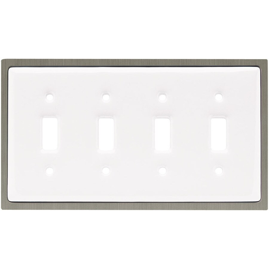 Brainerd 4-Gang White Toggle Wall Plate