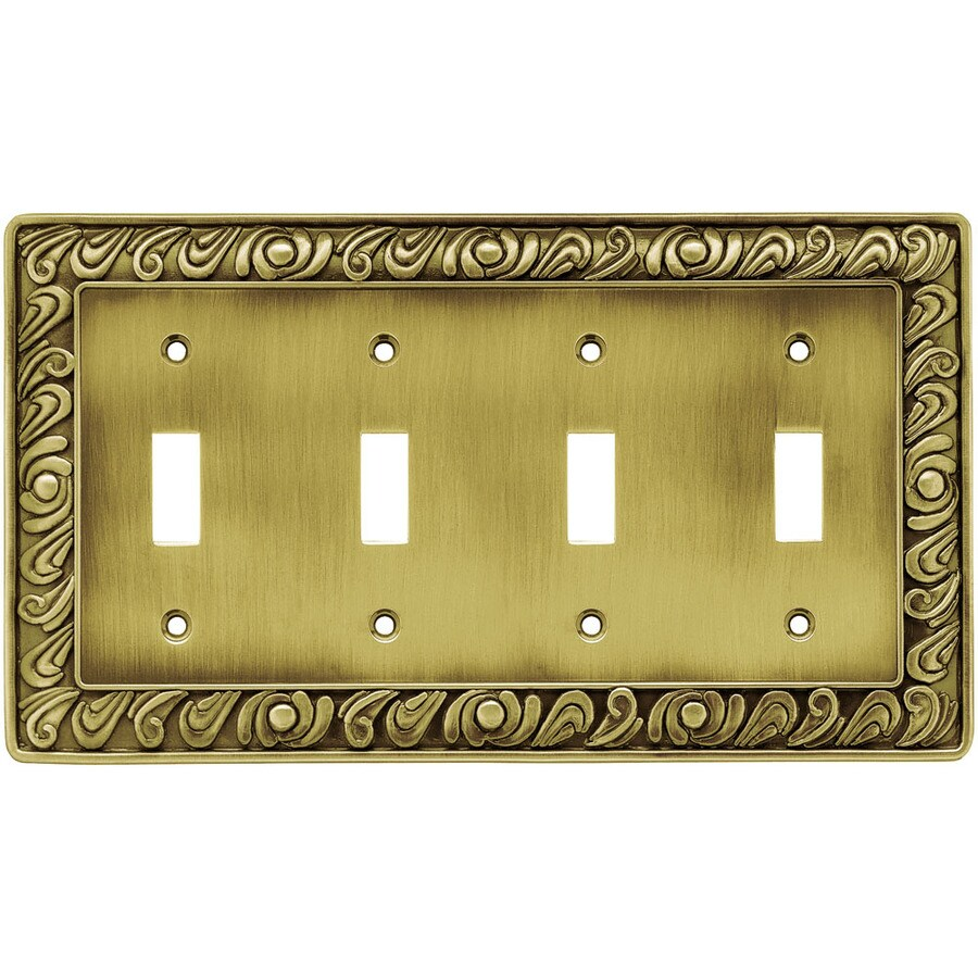 Brainerd 1 4 Tumbled Antique Brass Quad Toggle
