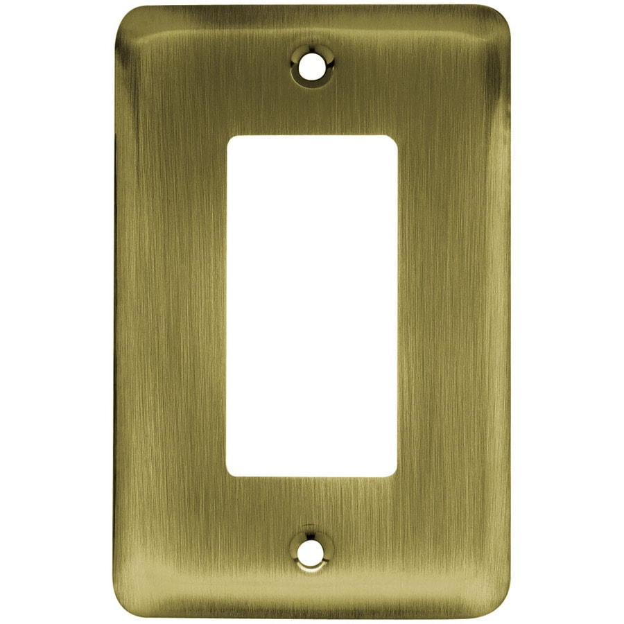 Brainerd 1-Gang Antique Brass Decorator Wall Plate