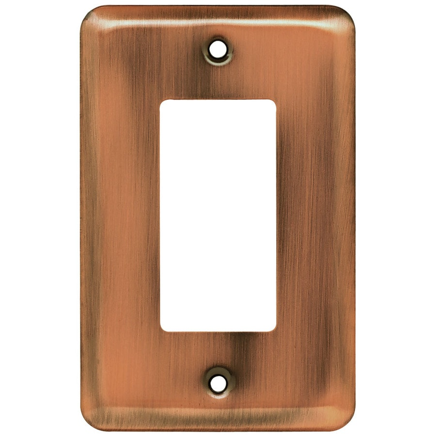 Brainerd 1-Gang Brushed Copper Decorator Wall Plate