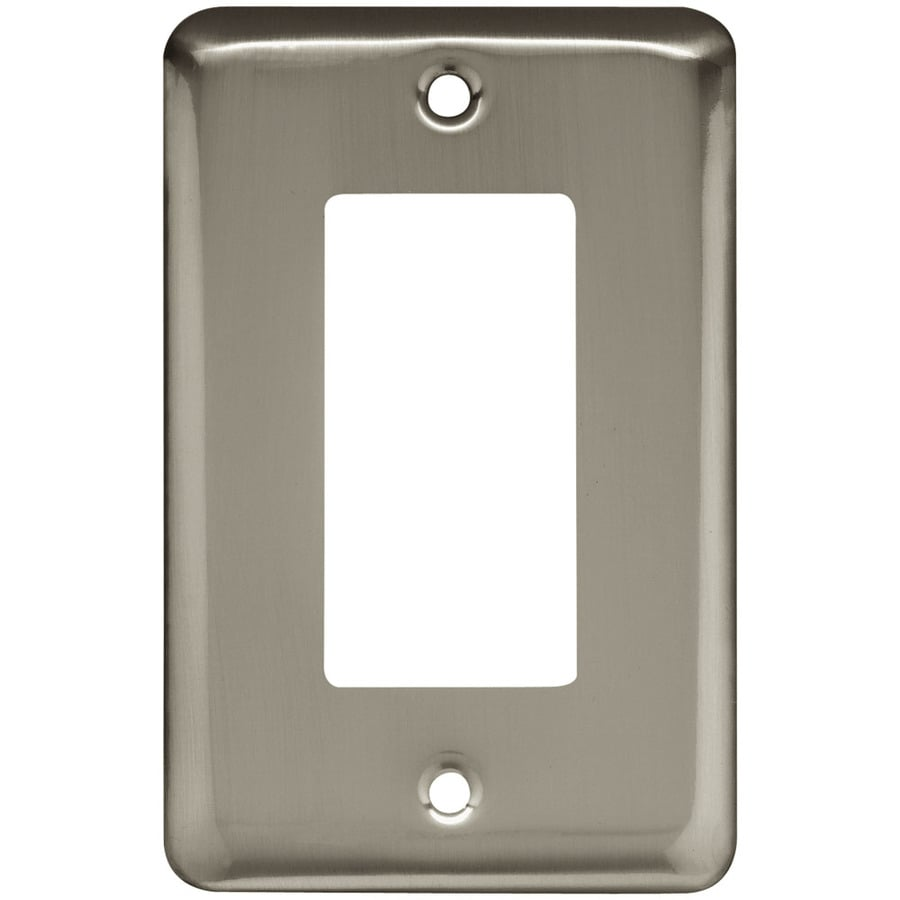 Style Selections 1-Gang Satin Nickel Decorator Rocker Steel Wall Plate