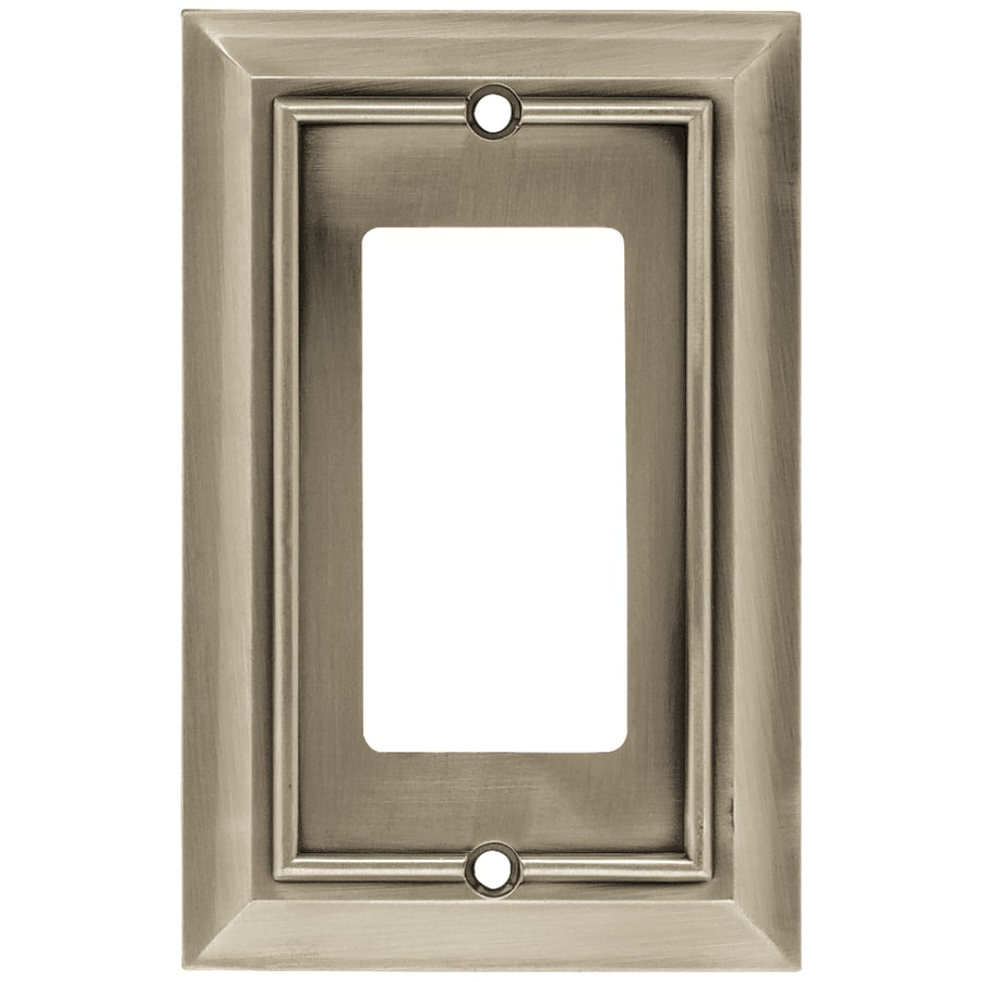 Brainerd Architectural 1-Gang Satin Nickel Single Decorator Wall Plate