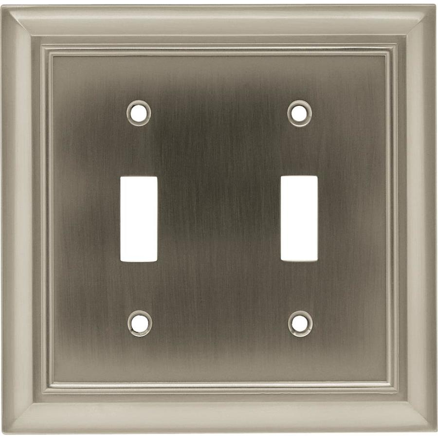 Brainerd Architectural 2-Gang Satin Nickel Double Toggle Wall Plate