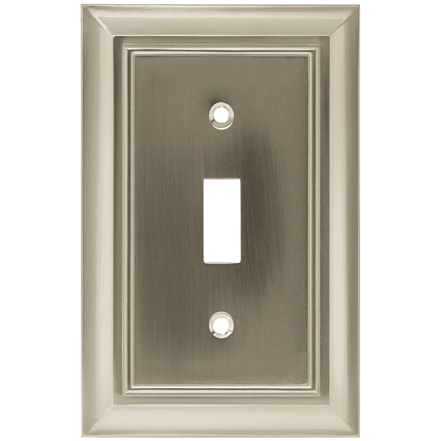 Brainerd Architectural 1-Gang Satin Nickel Single Toggle Wall Plate