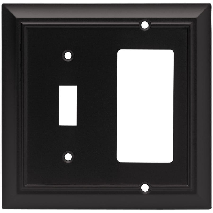 Brainerd 2-Gang Flat Black Double Decorator Wall Plate