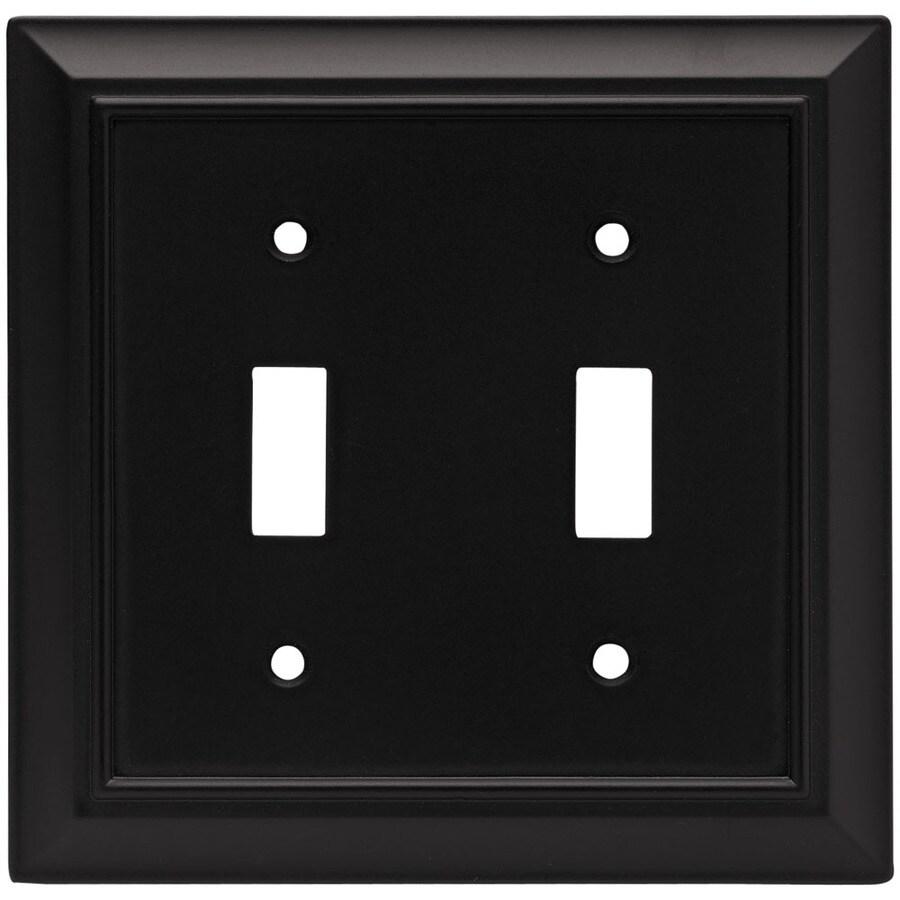 Brainerd 2-Gang Flat Black Toggle Wall Plate