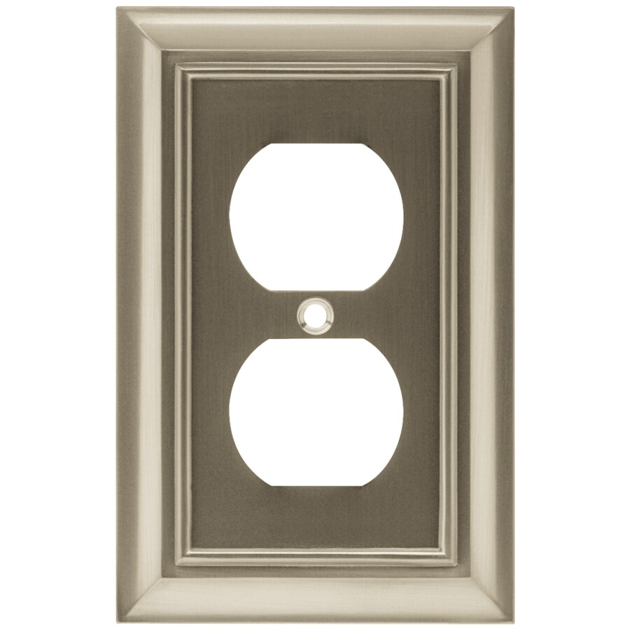 Arnold Architectural 1-Gang Satin Nickel Single Duplex Wall Plate