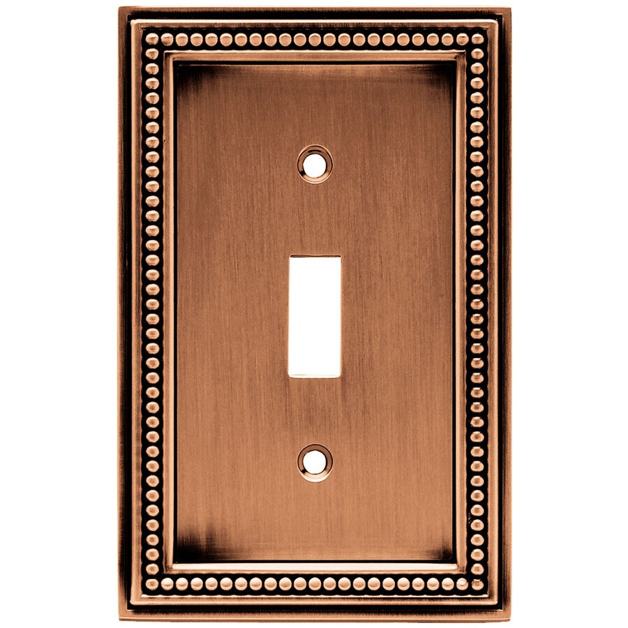 Brainerd 1-Gang Aged Brushed Copper Toggle Wall Plate