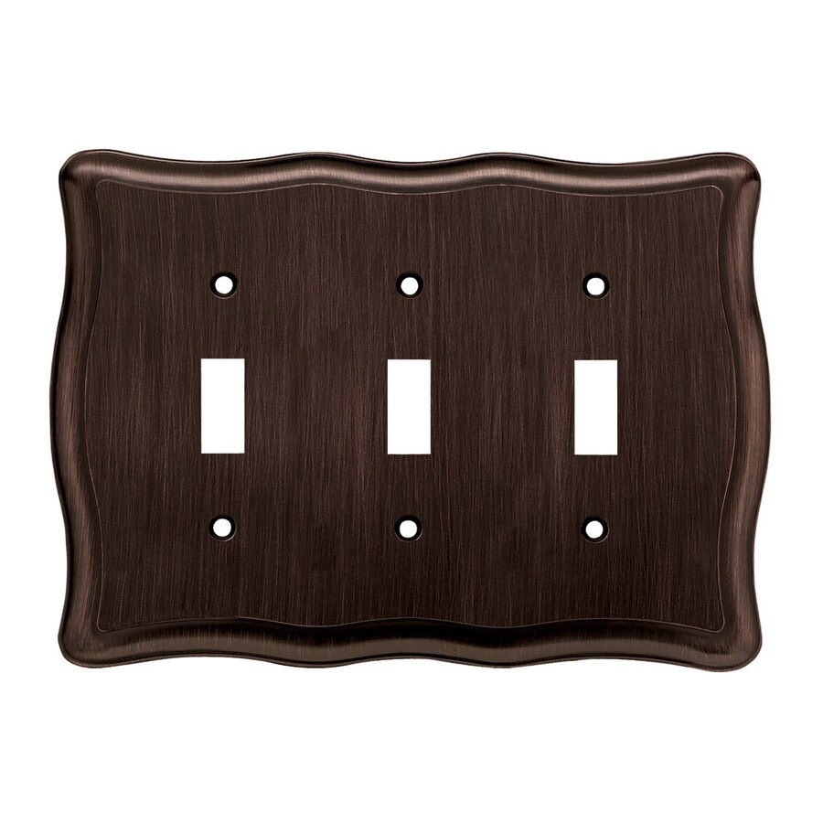 Brainerd 3-Gang Venetian Bronze Toggle Wall Plate