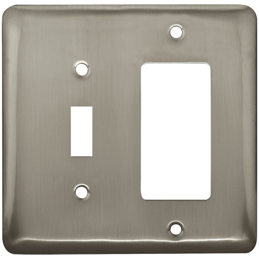 Style Selections 2-Gang Satin Nickel Decorator Wall Plate