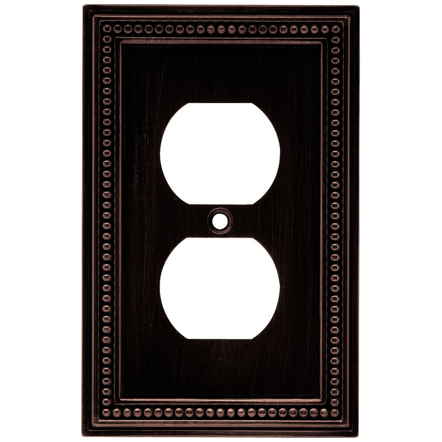 Brainerd Beaded 1 Gang Venetian Bronze Single Standard Wall Plate At
