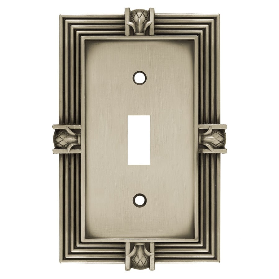 Brainerd 1-Gang Brushed Satin Pewter Toggle Wall Plate