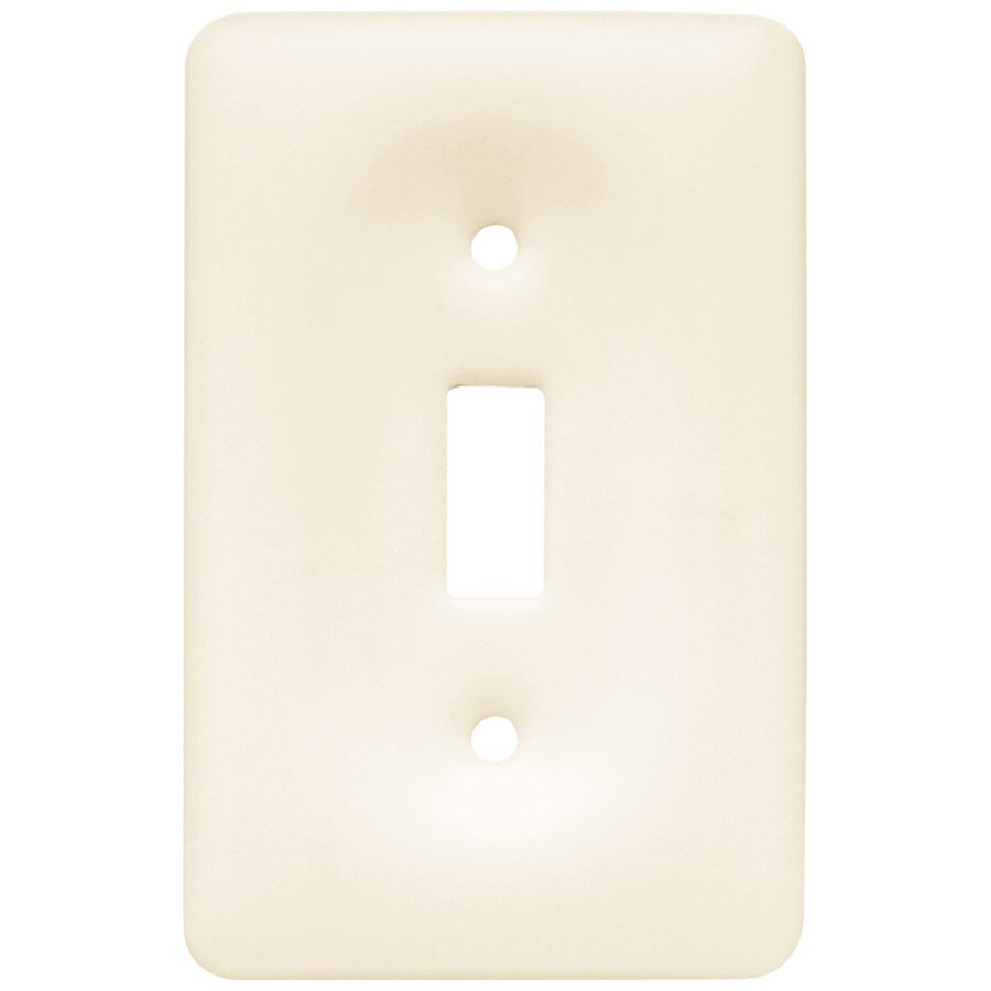 Brainerd 1-Gang Bisque Toggle Wall Plate
