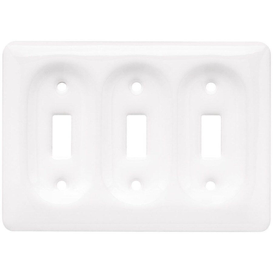 Brainerd 3-Gang White Toggle Wall Plate