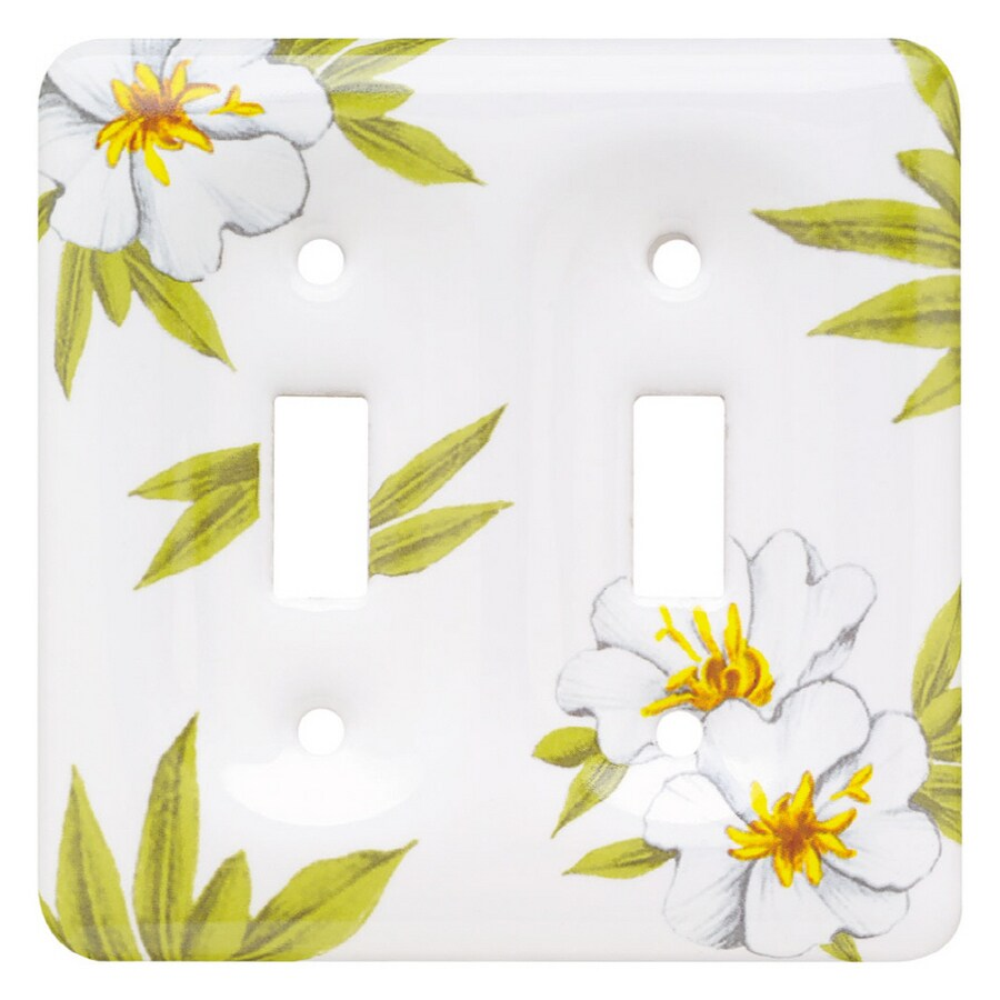 Brainerd 2-Gang Magnolia Standard Toggle Ceramic Wall Plate