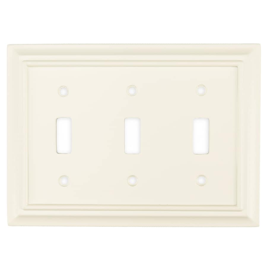 Brainerd 3-Gang Cream Toggle Wall Plate