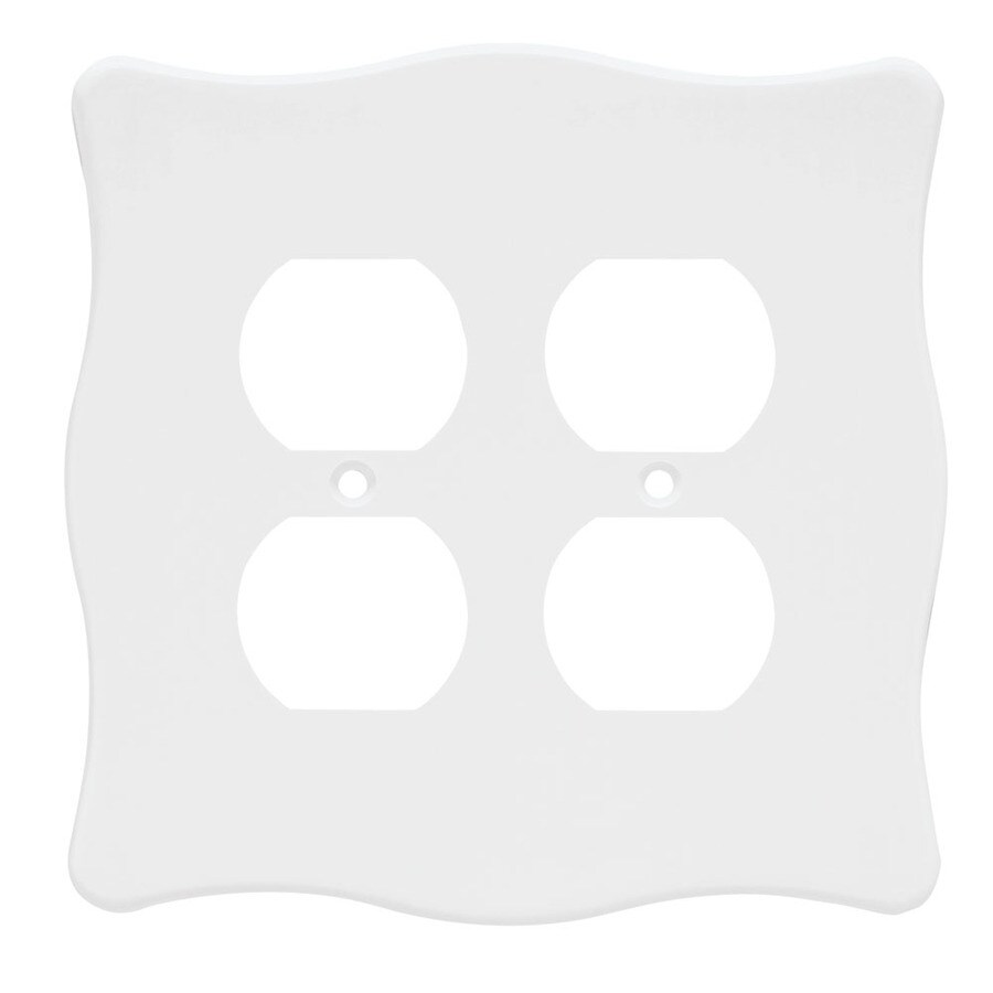 Brainerd 2-Gang White Round Wall Plate
