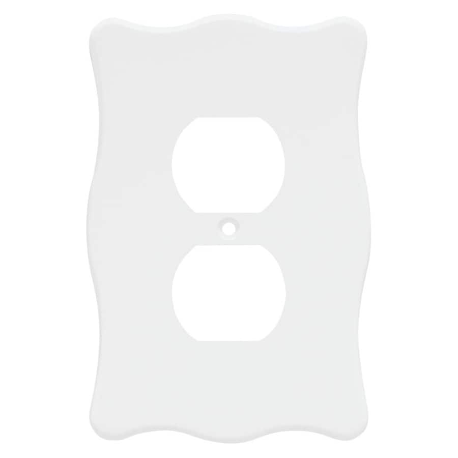 Brainerd 1-Gang White Round Wall Plate