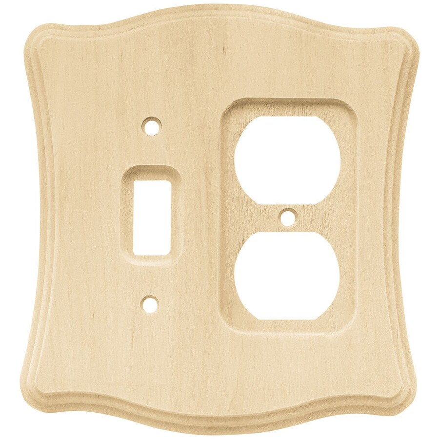 Brainerd 2-Gang Unfinished Birch Toggle Wall Plate