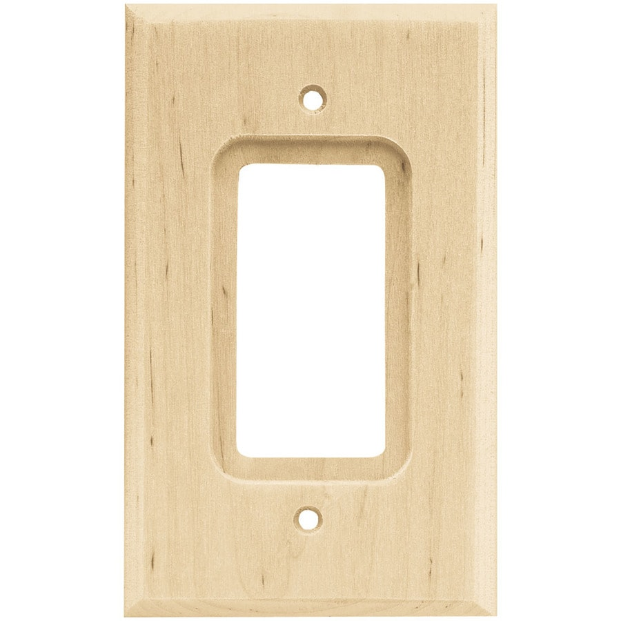Brainerd Wood Square 1-Gang Light Wood Single Square Wall Plate