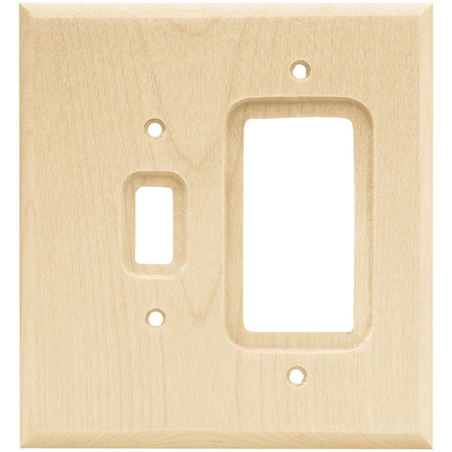 Brainerd 2-Gang Unfinished Birch Decorator Rocker Wood Wall Plate