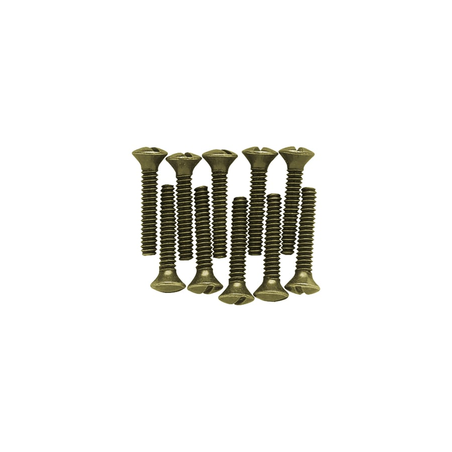 Brainerd 10-Pack #6 to 32 x 0.75-in Brass Wall Plate Screws