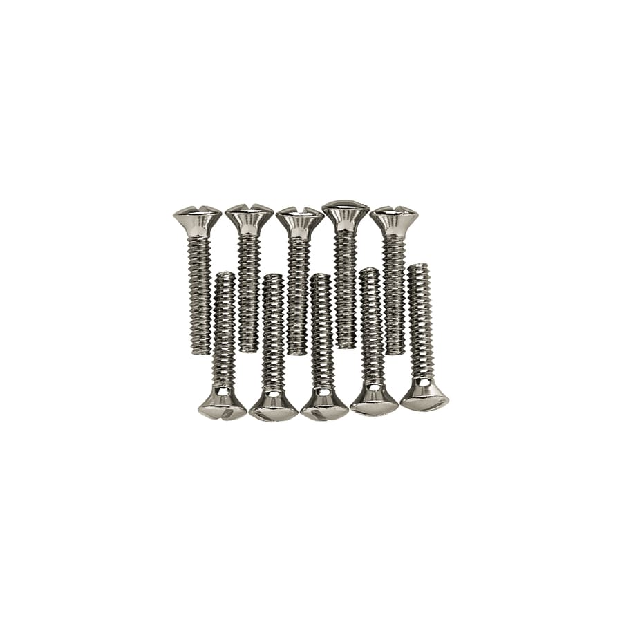 Brainerd 10-Pack #6 to 32 x 0.75-in Chrome Wall Plate Screws