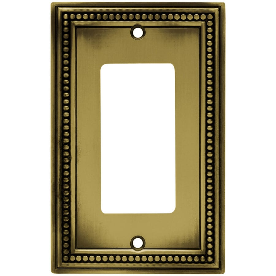 betsyfieldsdesign 1-Gang Antique Brass Decorator Wall Plate
